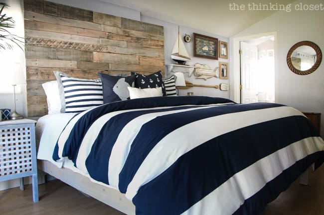 DIY Nautical Rustic Bed Frame with Headboard