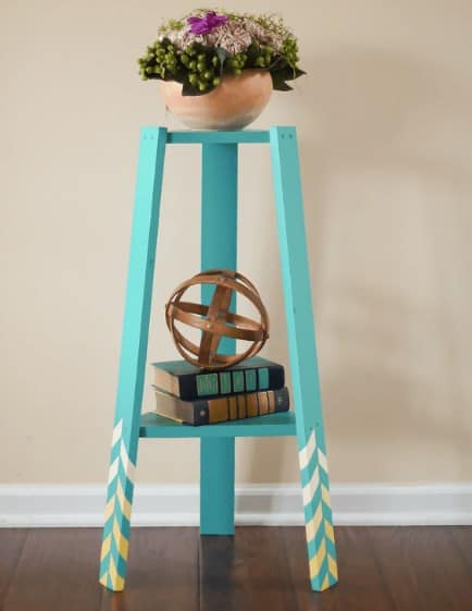 DIY Patterned Plant Stand Ideas