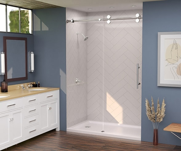 DIY Patterned Shower Wall Panels