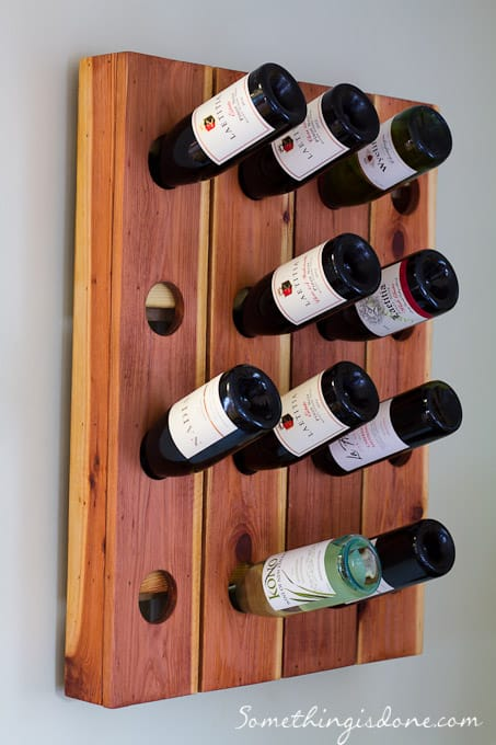 DIY Pegboard Wine Rack