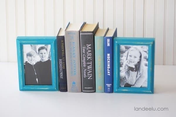 DIY Picture Frames Bookends