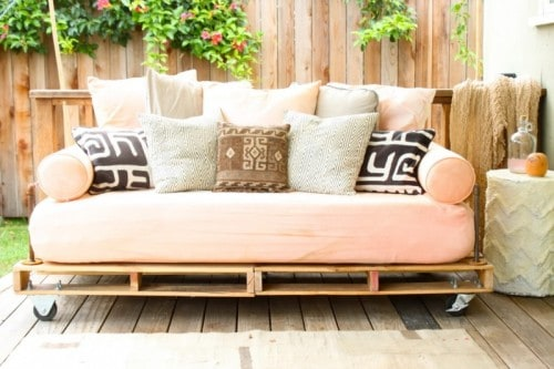 DIY Pink Couch On Wheels