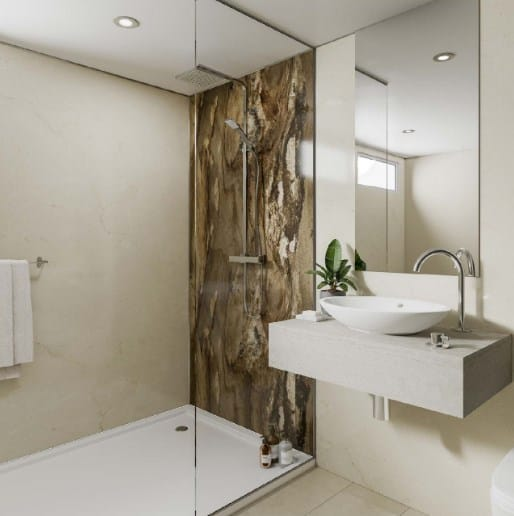 DIY Plywood Core Shower Wall Panels