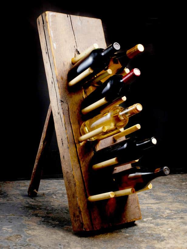 DIY Primitive Wine Rack