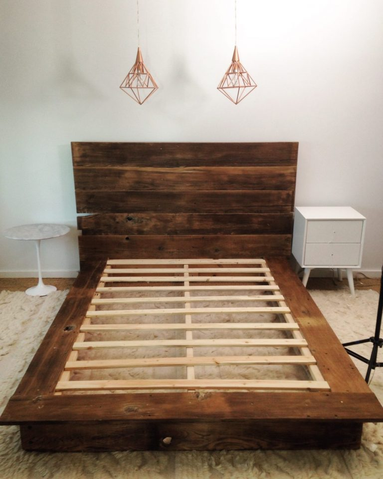 DIY Reclaimed Bed Frame