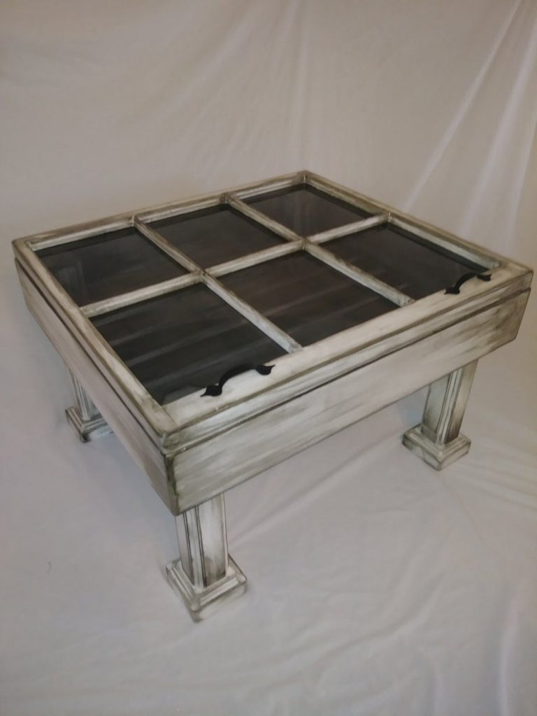 Vintage Style DIY Reclaimed Window Coffee Table