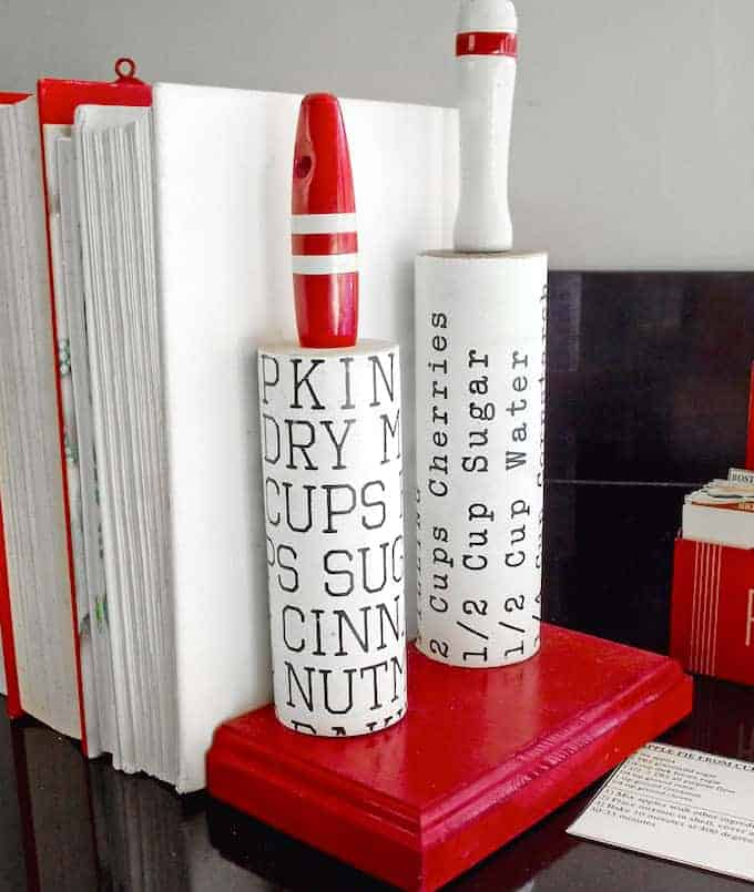 DIY Rolling Pins Bookends