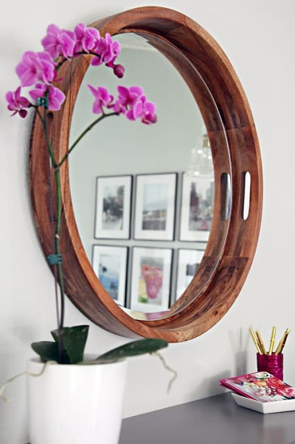 DIY Rounded Wood Framed Mirrors