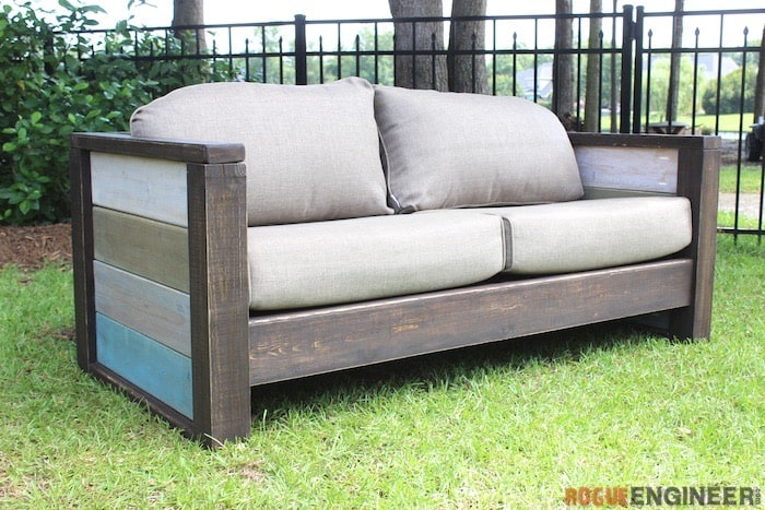 DIY Rustic Couch