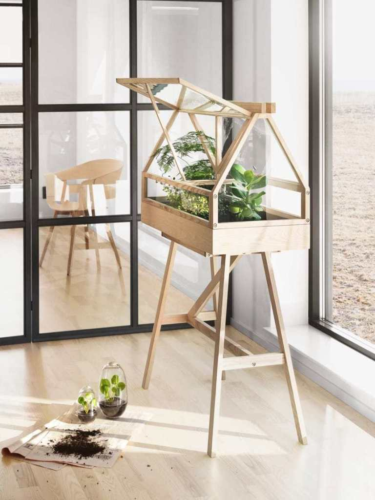 DIY Scandinavian Indoor Greenhouse
