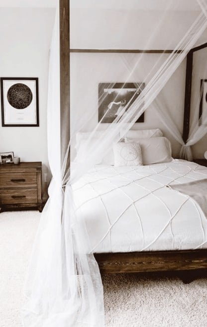 DIY Simple Canopy Bed Frame