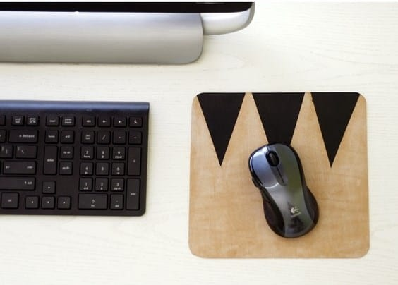 DIY Simple Geometric Mouse Pad