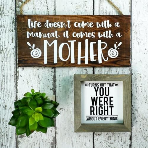DIY Simple Mothers Day Signs