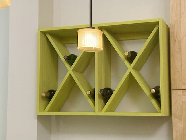 DIY Simple Wall-Mounted Wine Rack