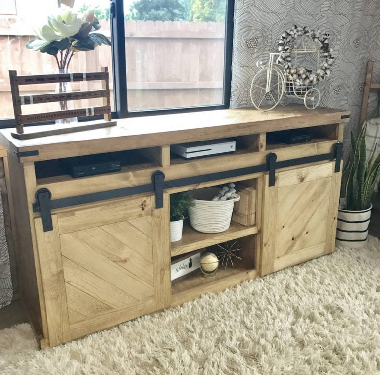 Repurposed Door TV Stand