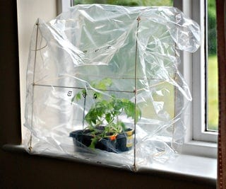 DIY Small Indoor Greenhouse