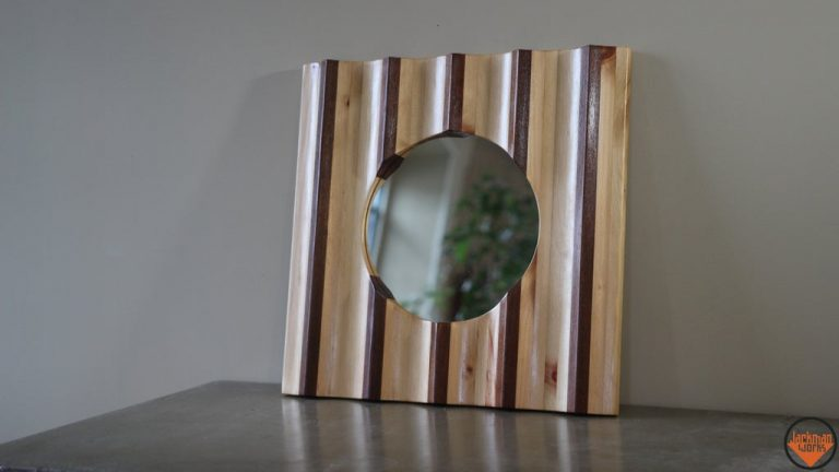 DIY Small Patterned Wood Framed Mirrors