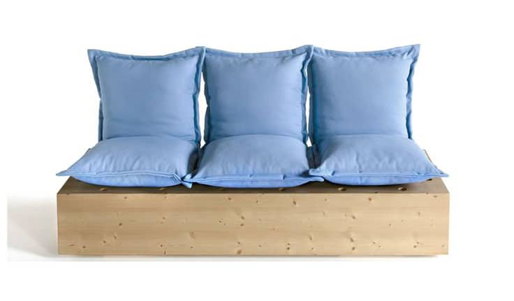 DIY Soft Blue Portable Couch