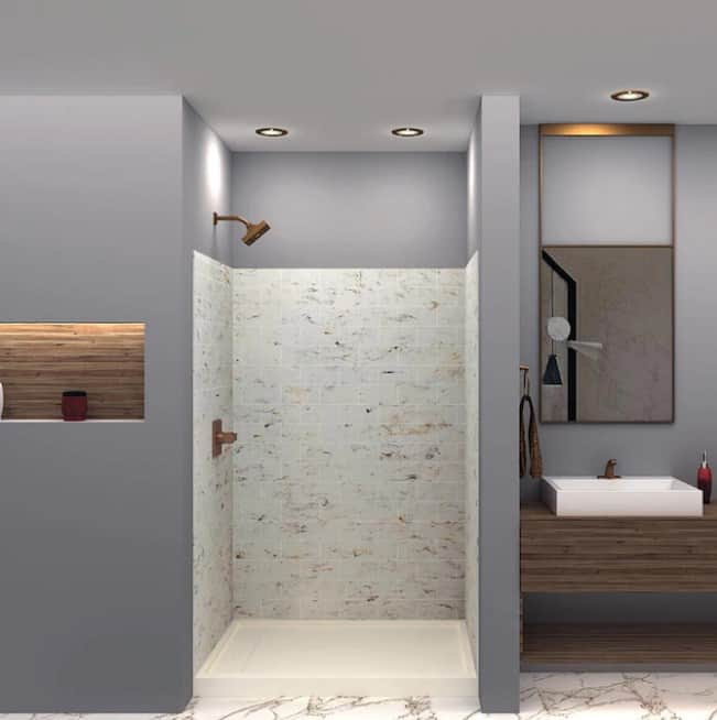 DIY Solid Surface Shower Wall Panels