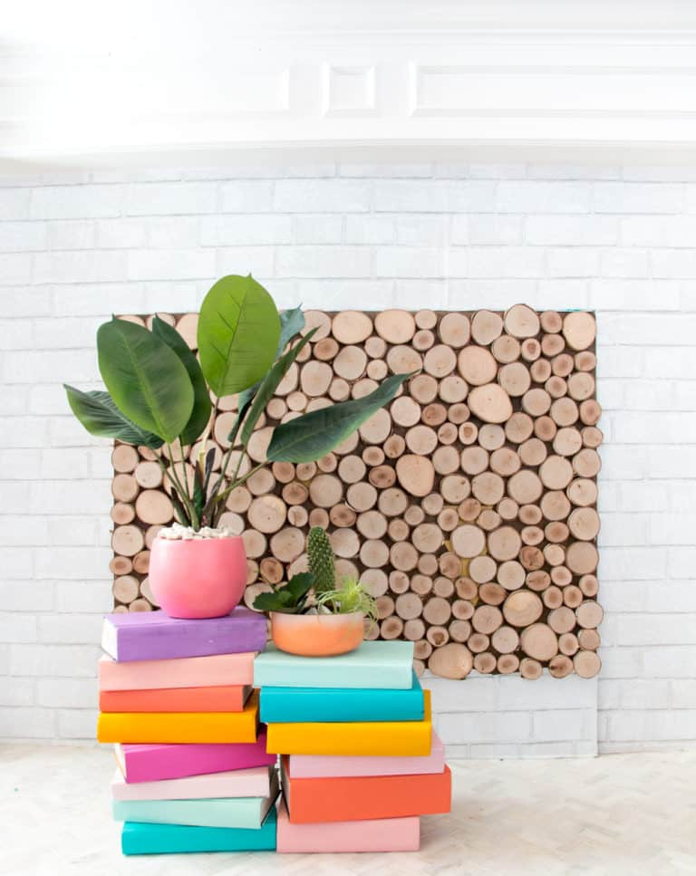 DIY Stacked Book Plant Stand Ideas