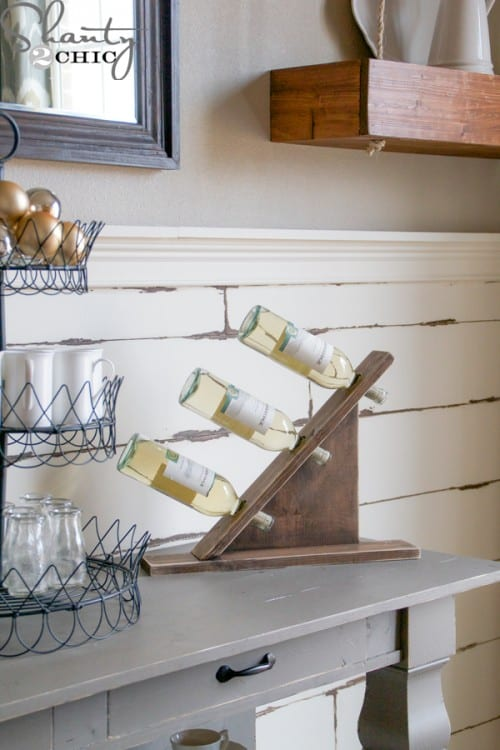 DIY Stylish Slant Wine Rack