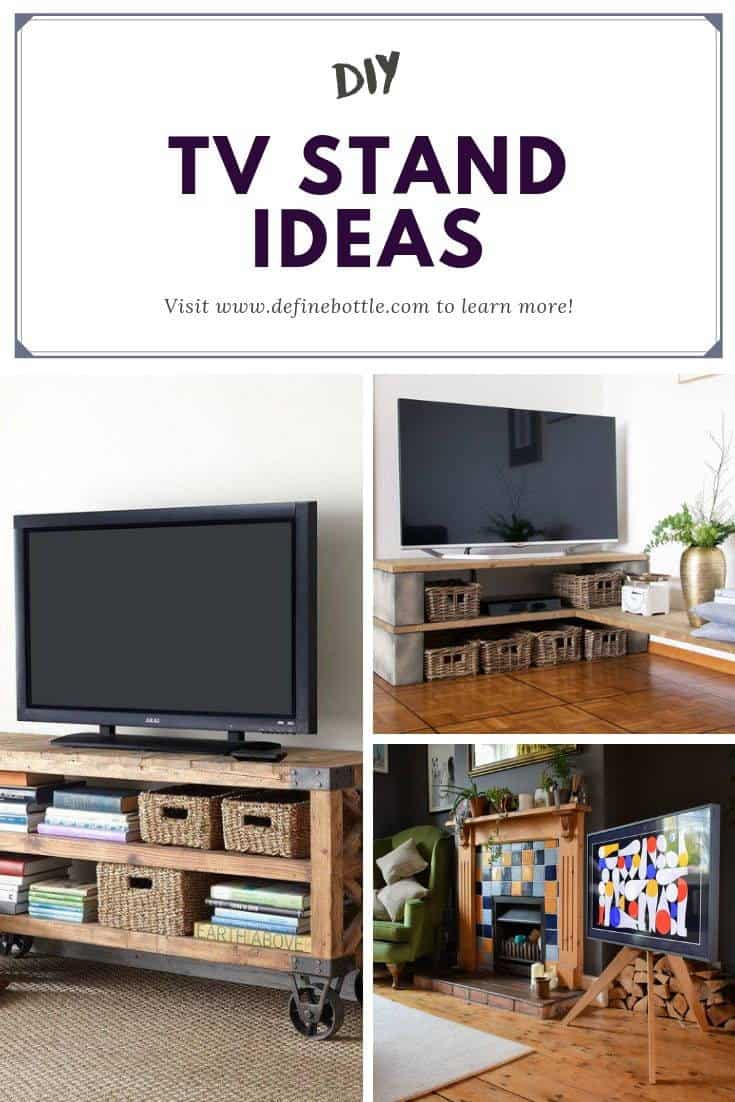 Pin this DIY TV STAND