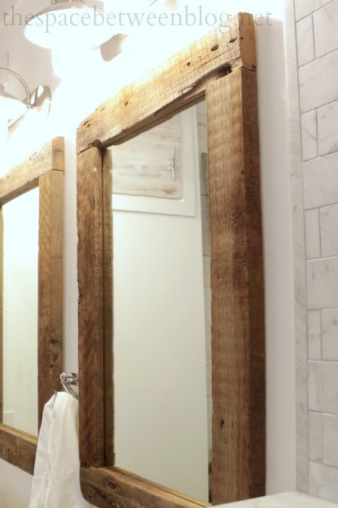 DIY Unfinished Wood Framed Mirrors