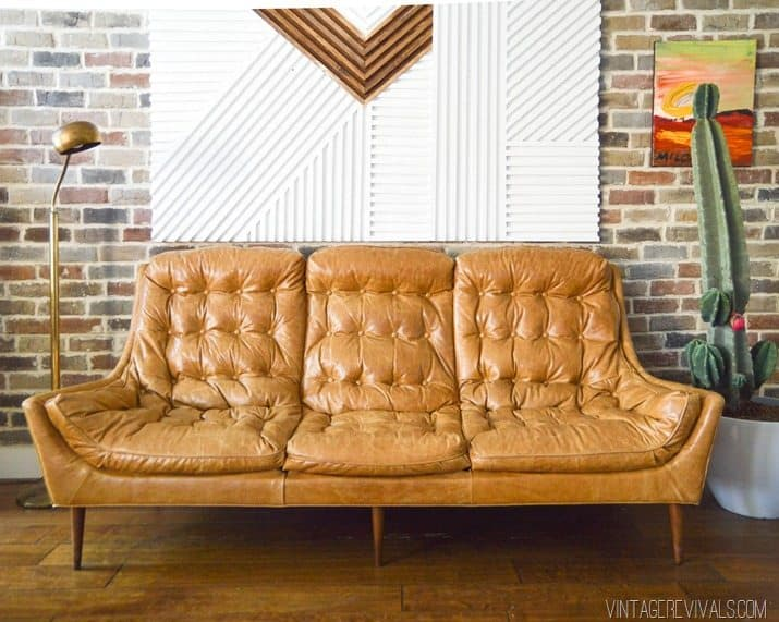 DIY Vintage Leather Couch
