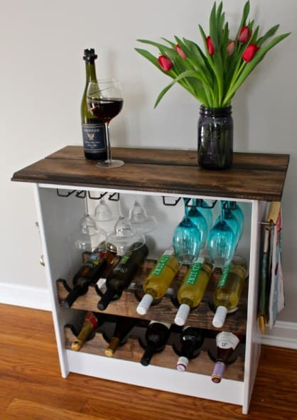 DIY Wine Rack IKEA Hack