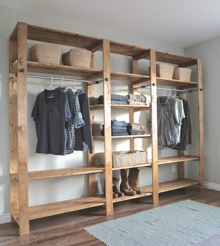 DIY Wood Closet Organizer Plans