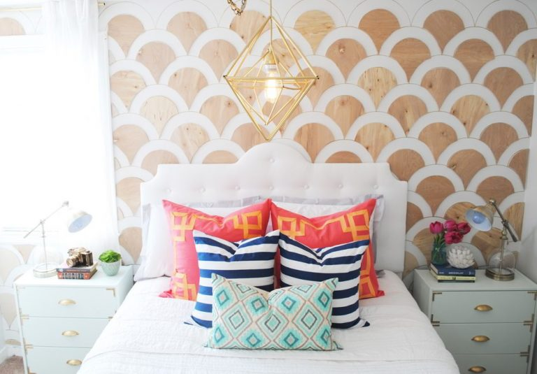 DIY Wood Scalloped Accent Wall Ideas