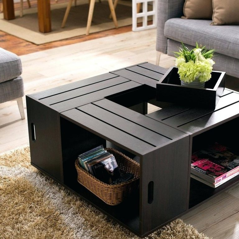 Easy DIY Wooden Crate Coffee Table