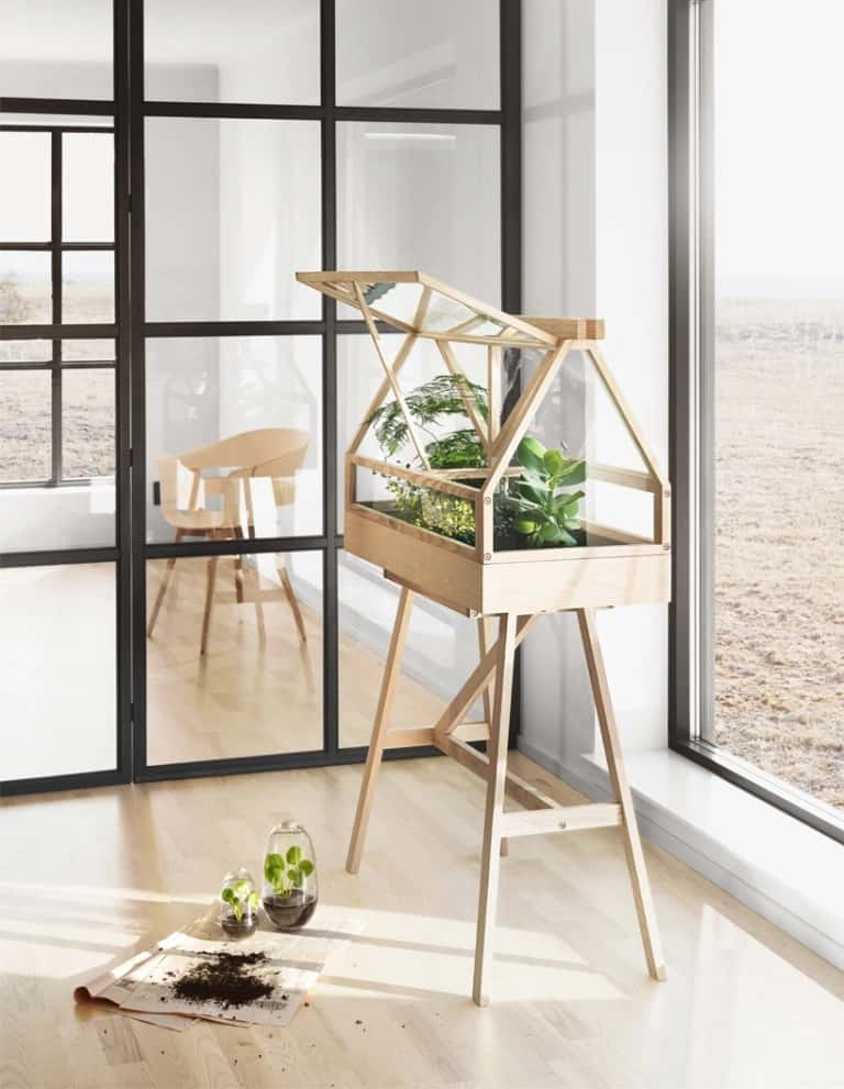 DIY Minimalist Indoor Greenhouse