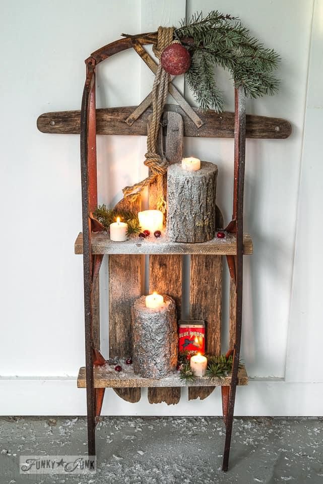 DIY Wooden Shelves for Christmas