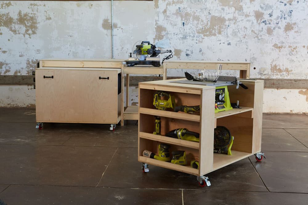 DIY Workbench with Miter Saw Stand
