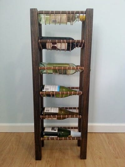 DIY Rubber Band Wine Rack