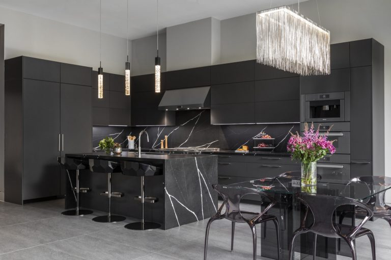 Dark Mid Century Modern Kitchen