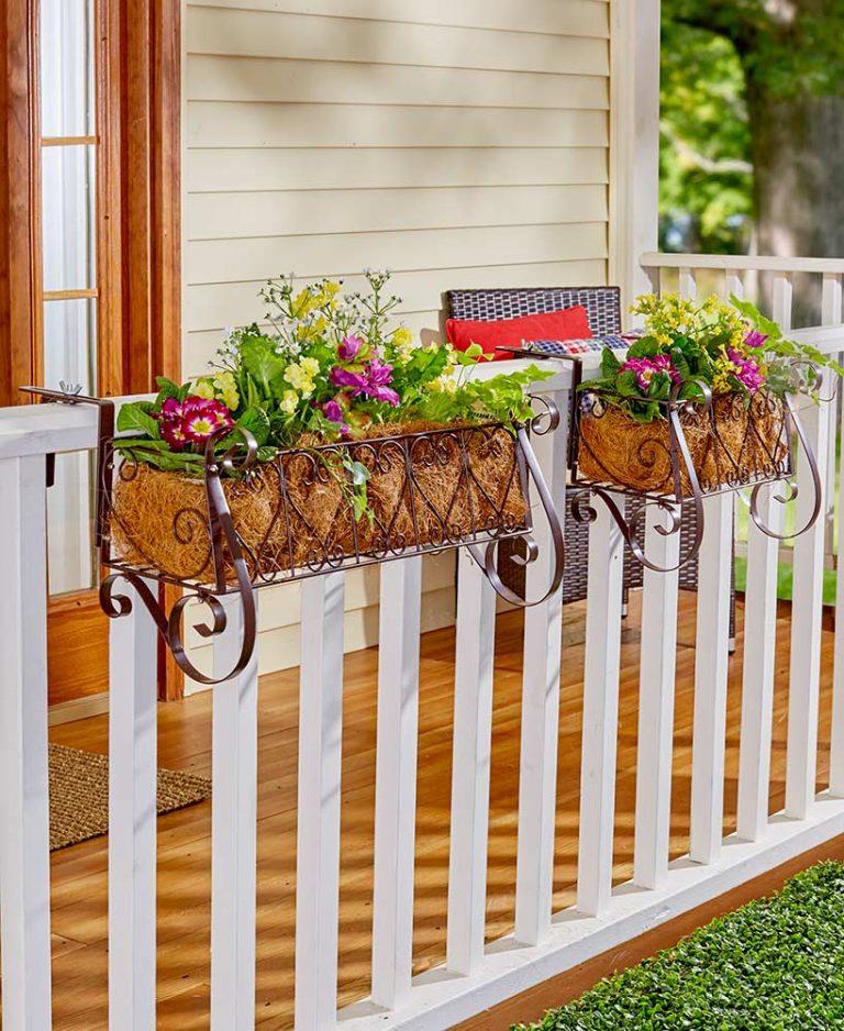 Decorative Deck Railing Planter Idea