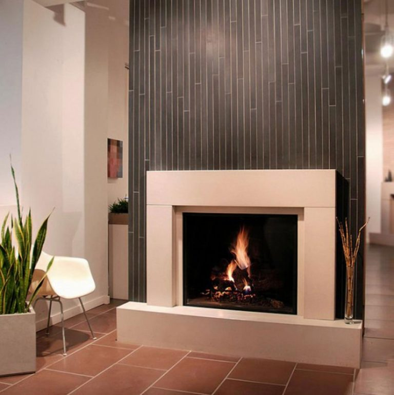 Easy and Modern Ceramic Fireplace Tiles
