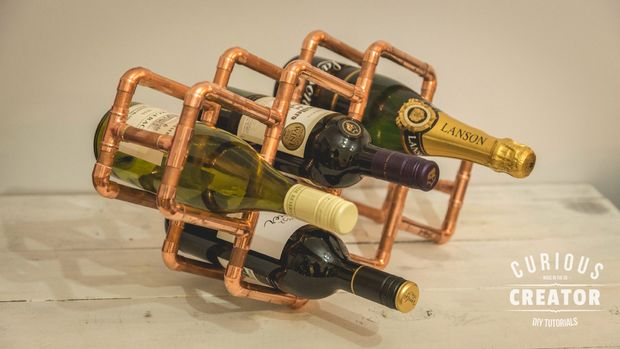 Easy Copper Wine Rack