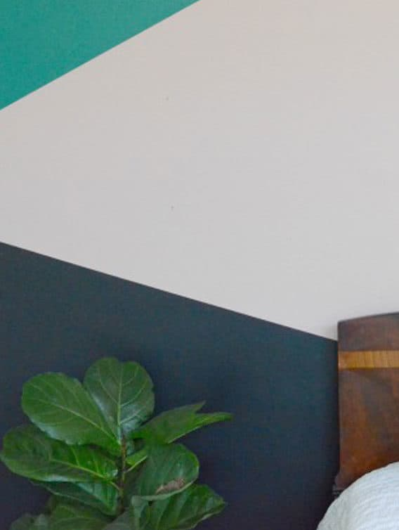 Easy Geometric Wall Paint