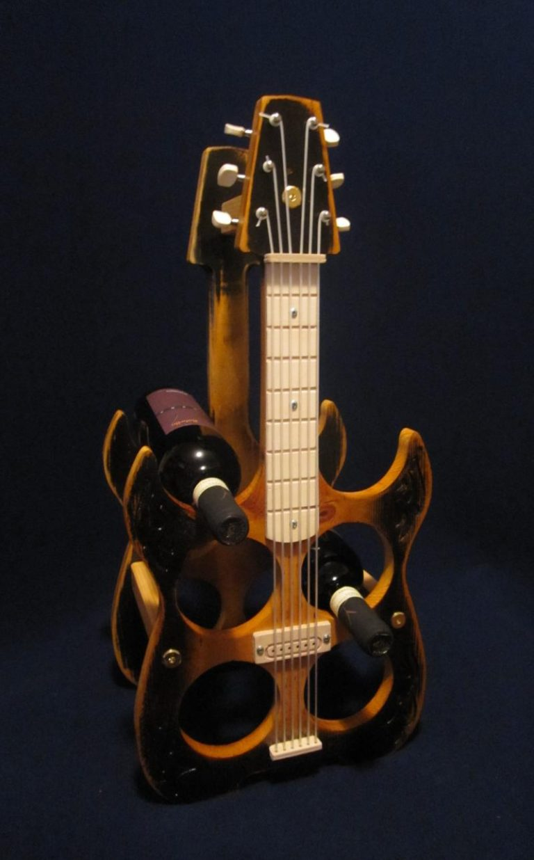Electric Guitar Wine Rack