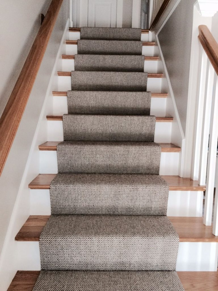 Painted Stairs Ideas - Elegant Rustic Stair Runner