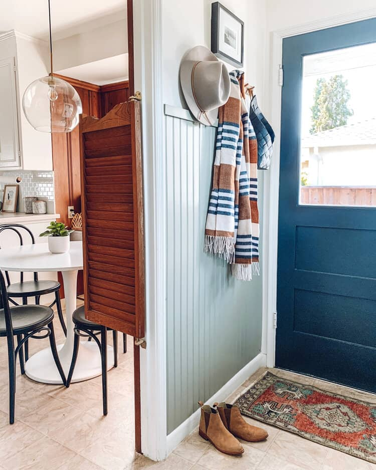 Entryway Wood Accent Wall Ideas