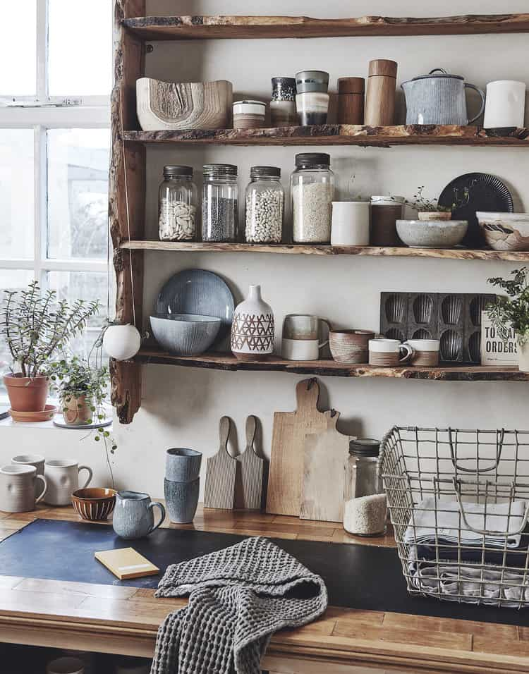 Ethical Open Kitchen Shelving