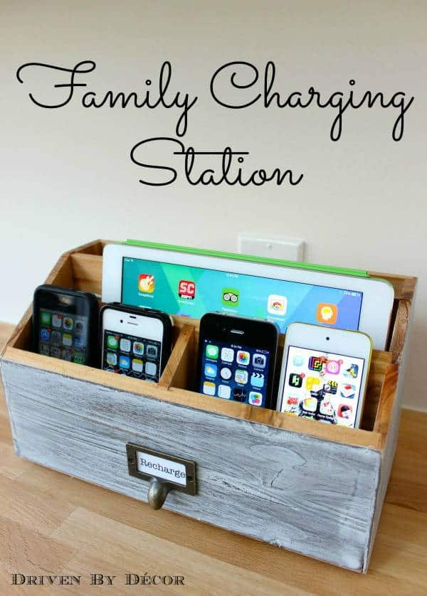 DIY Family Charging Station Ideas