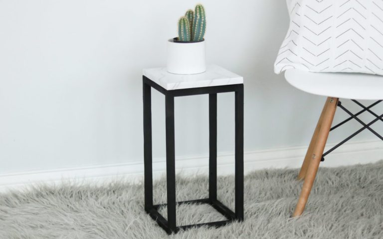Fancy Marble Plant Stand Ideas