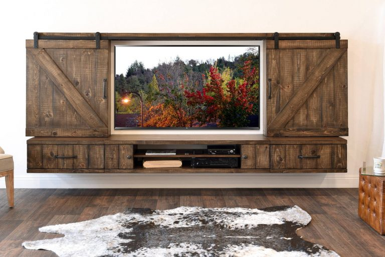 DIY Repurposed Door TV Stand