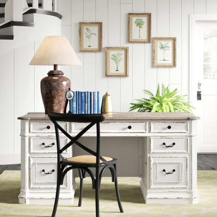 Farmhouse Desk With Drawers
