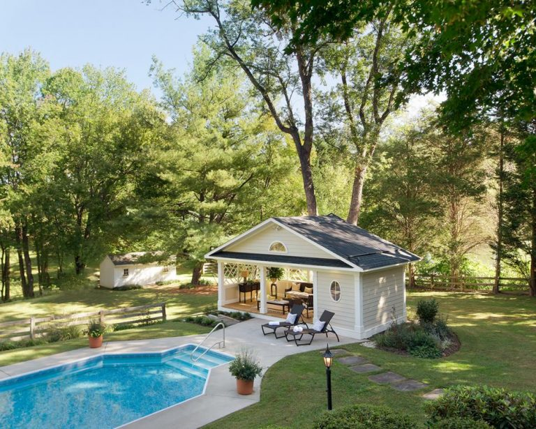 Farmhouse Pool Cabana Ideas